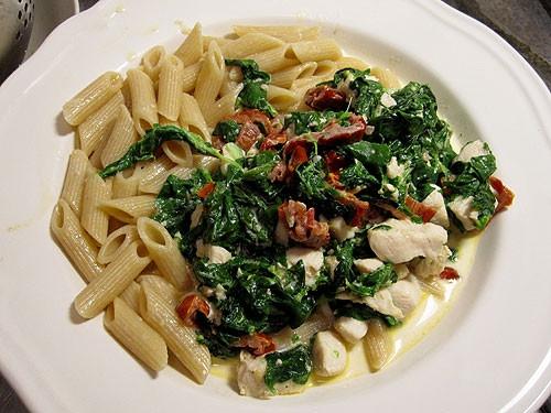 italiensk kyckling pasta